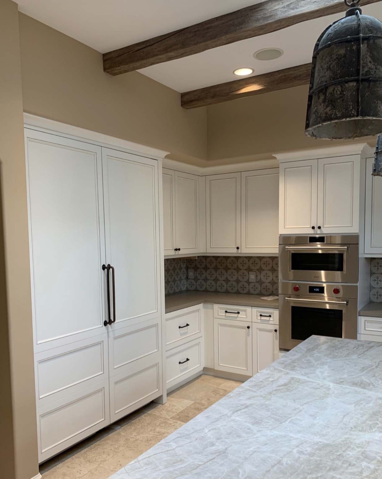 After kitchen is brighter and a minor departure from Tuscan design in Double LL Ranch Encinitas Olivenhain, CA