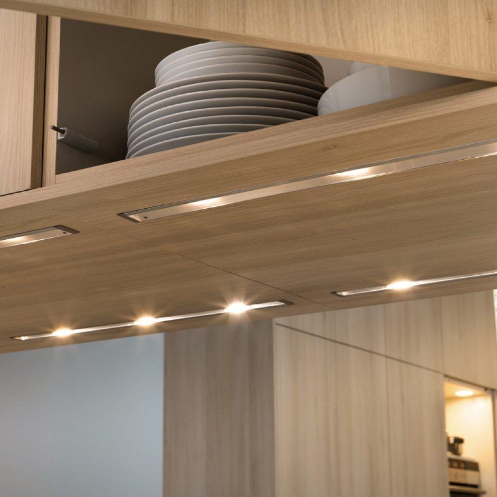 Clean Modern LED Linear Strip Under Cabinet Lighting