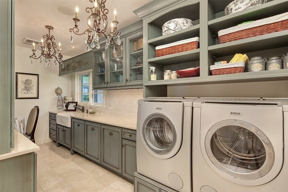 Elegant Laundry Room designed for a Pacific Northwest Client