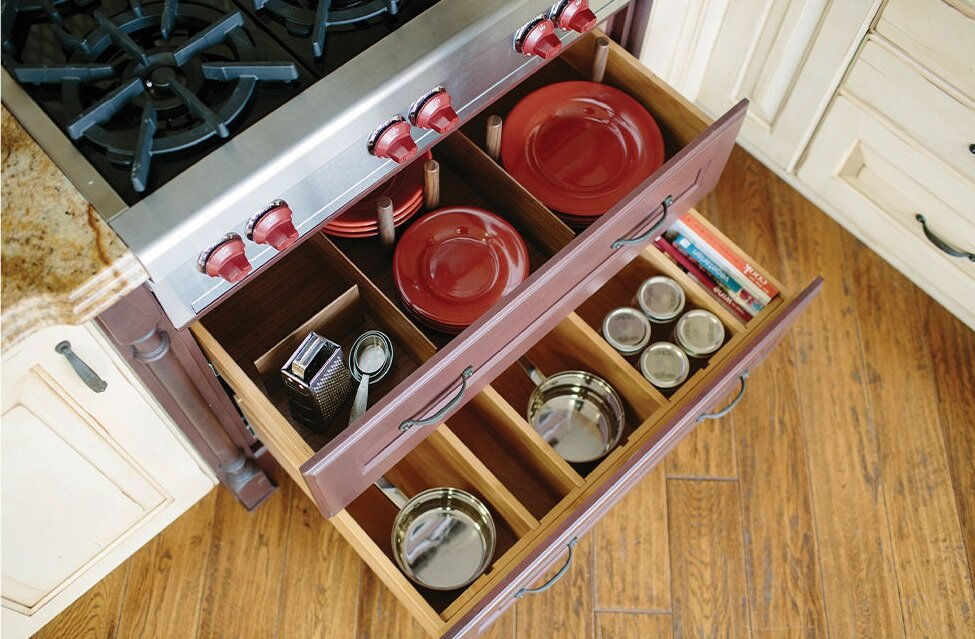 Pot and Pan Organizers  Who doesnt get frustrated while looking for a lid, well no more with these dividers that problem is solved.