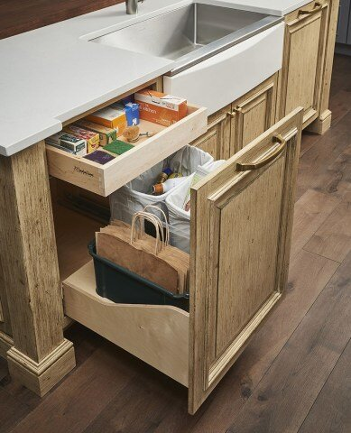 The Ultimate Trash Recycle Pullout   store your shopping bags too