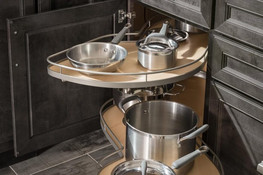 Blind Corner Pullout   Get off your knees this pullout will make those corners in your kitchen function so much better.