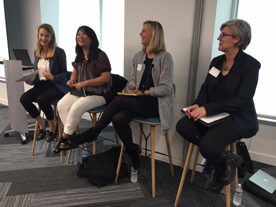 Left to right: Sarah Pipes (KPMG), Chenxi Wang (Jane Bond Project), Steffi Bryson (Uber), Michelle Avary (Aeris)   Photo credit: Caroline Wong