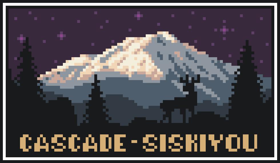 Cascade - Siskiyou Fictional State Park Poster