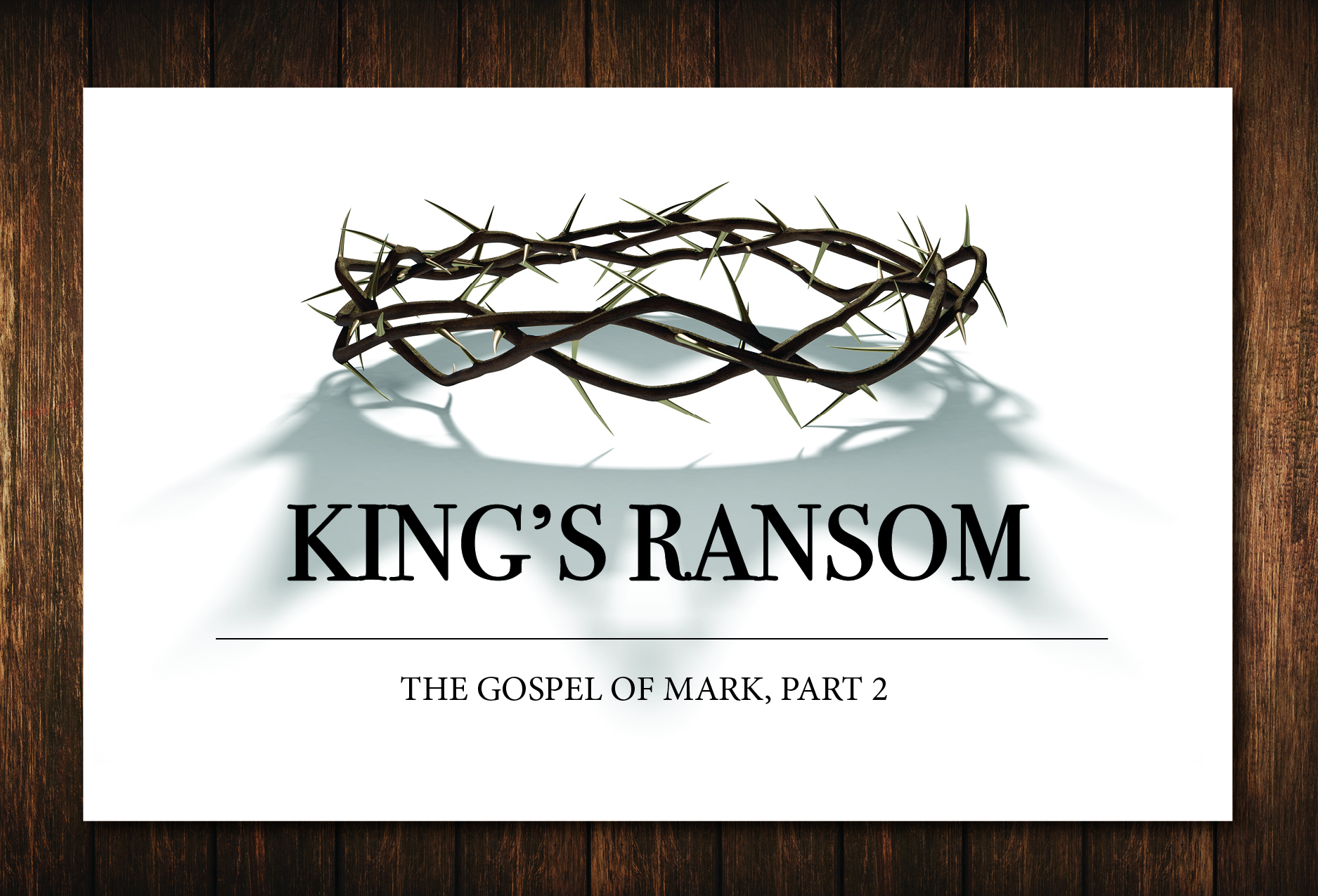 "- Series: ""King's Ransom"" - The Gospel of Mark, Part 2In Part 2 of the study of Mark's gospel we learn that Jesus came to Jerusalem not to be enthroned but to be"