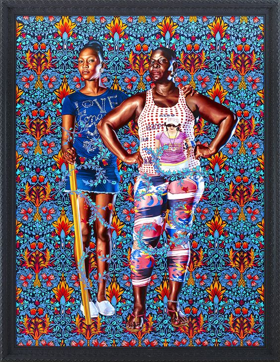 """Without shying away from the complicated socio-political histories relevant to the world,  Kehinde Wiley 's figurative paintings and sculptures ""quote historical sources and position young black men within the field of power."" His heroic paintings evoke a modern style instilling a unique and contemporary manner, awakening complex issues that many would prefer remain mute. """