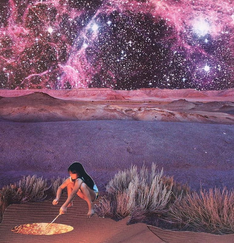 Tending the infinite possibilities. Another perfect visual affirmation by  Janna Dorothy