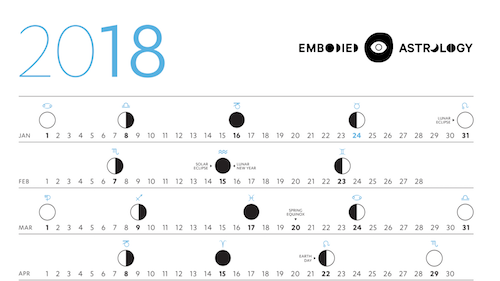 GET A PRINT-AT-HOME 2018 EMBODIED ASTROLOGY LUNAR CALENDAR HERE