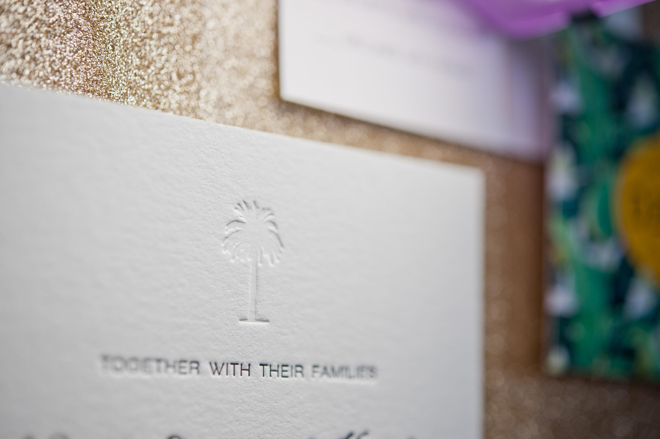 copperwillow.com | Retro Palms Wedding Invitation Suite | Copper Willow Paper Studio | Wedding Stationery and Invitations