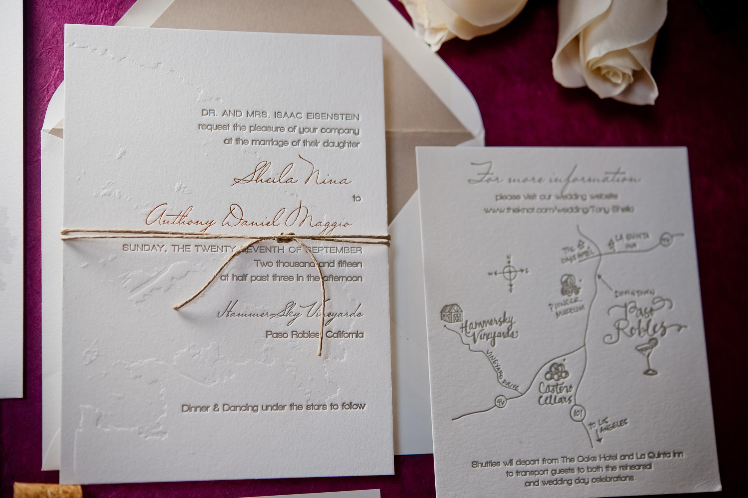 copperwillow.com | Vineyard Wedding Invitation Collection | Copper Willow Paper Studio | Paso Robles Wedding Invitations