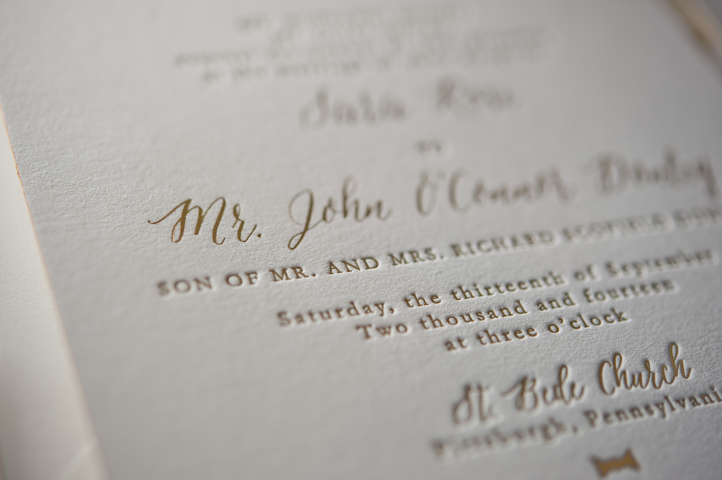 copperwillow.com | Classic Silhouettes Wedding Invitation Suite | Wedding Stationery and Invitation Collections by Copper Willow Paper Studio | Gold and Ivory Wedding Invites