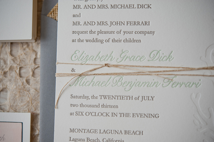 copperwillow.com | Beach Chic Wedding Invitations by Copper Willow Paper Studio | Beach Wedding Style