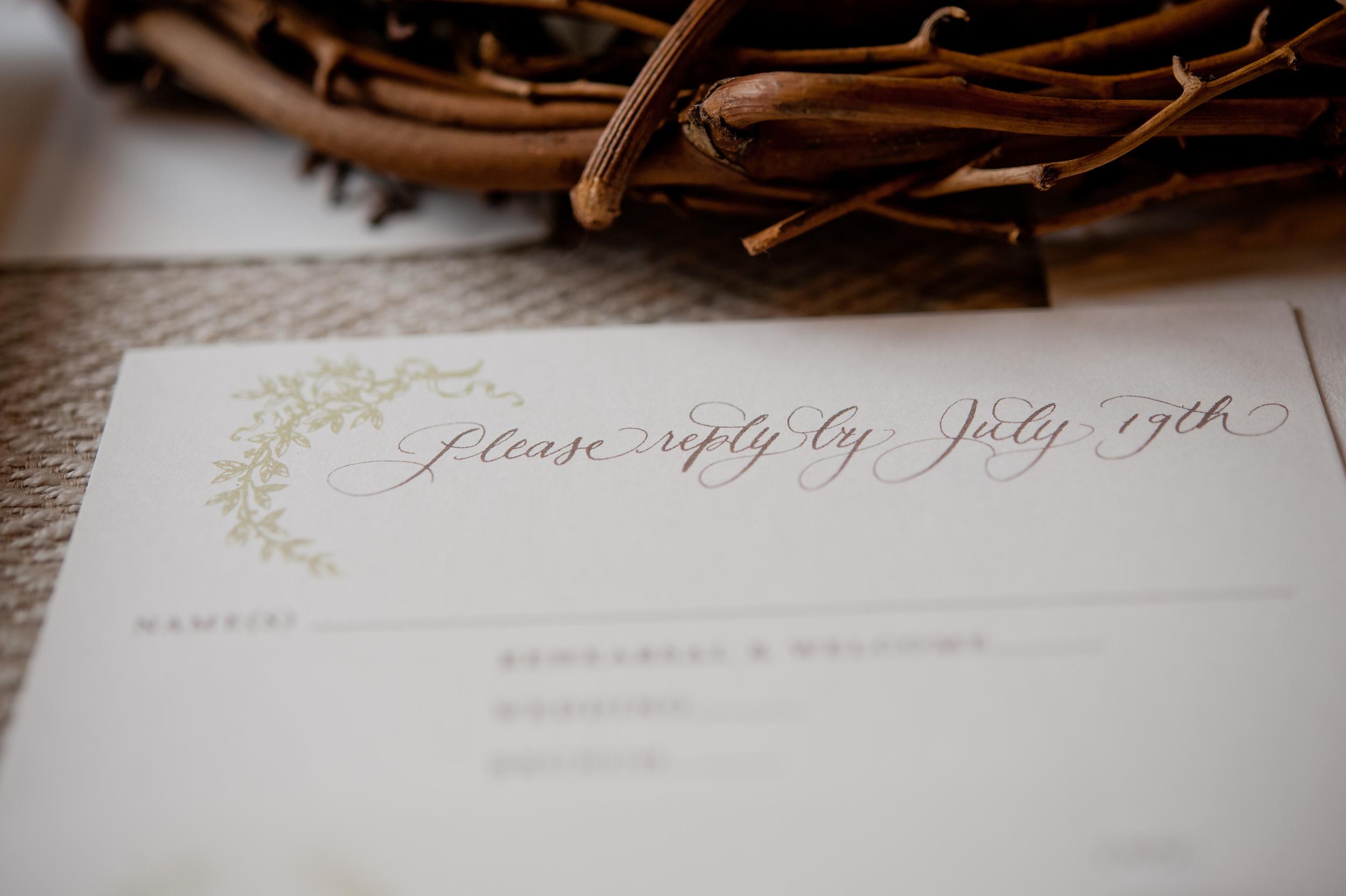 copperwillow.com | Soft Foliage Wedding Invitations | Spring Wedding Stationery | Copper Willow Paper Studio | Santa Barbara Wedding Invitation Collection