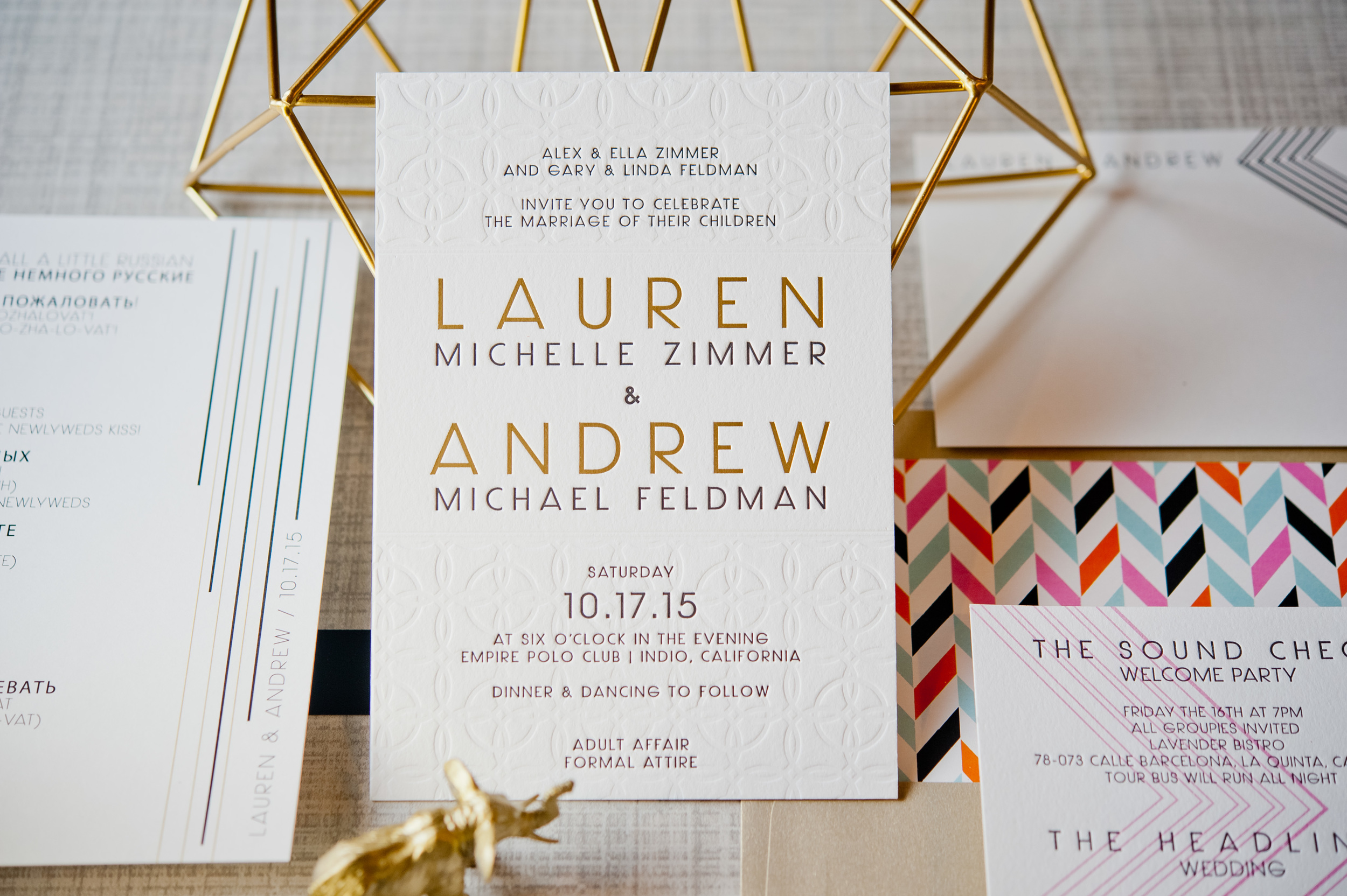 copperwillow.com | Modern Geometric Wedding Invitation Suite | Modern Wedding Stationery | Copper Willow Paper Studio
