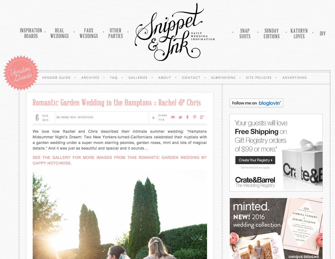 Copper Willow Paper Studio Featured on Snippet and Ink