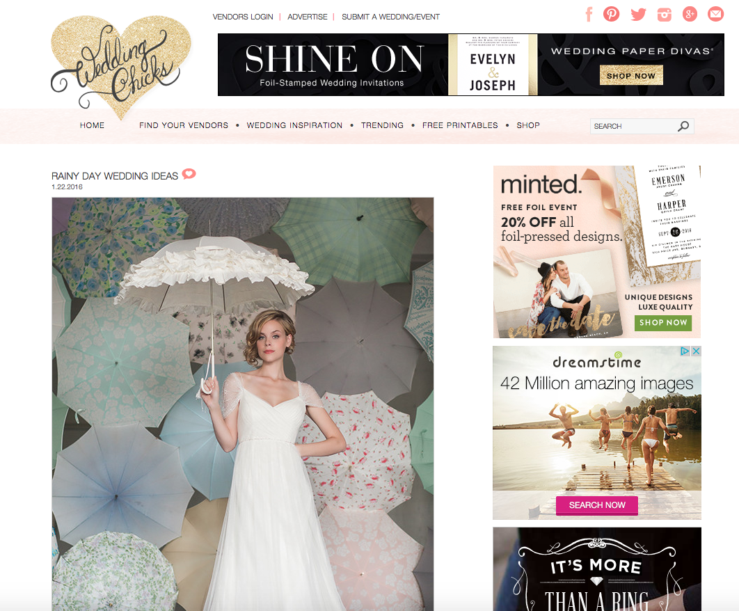 Copper Willow Paper Studio Featured on Wedding Chicks