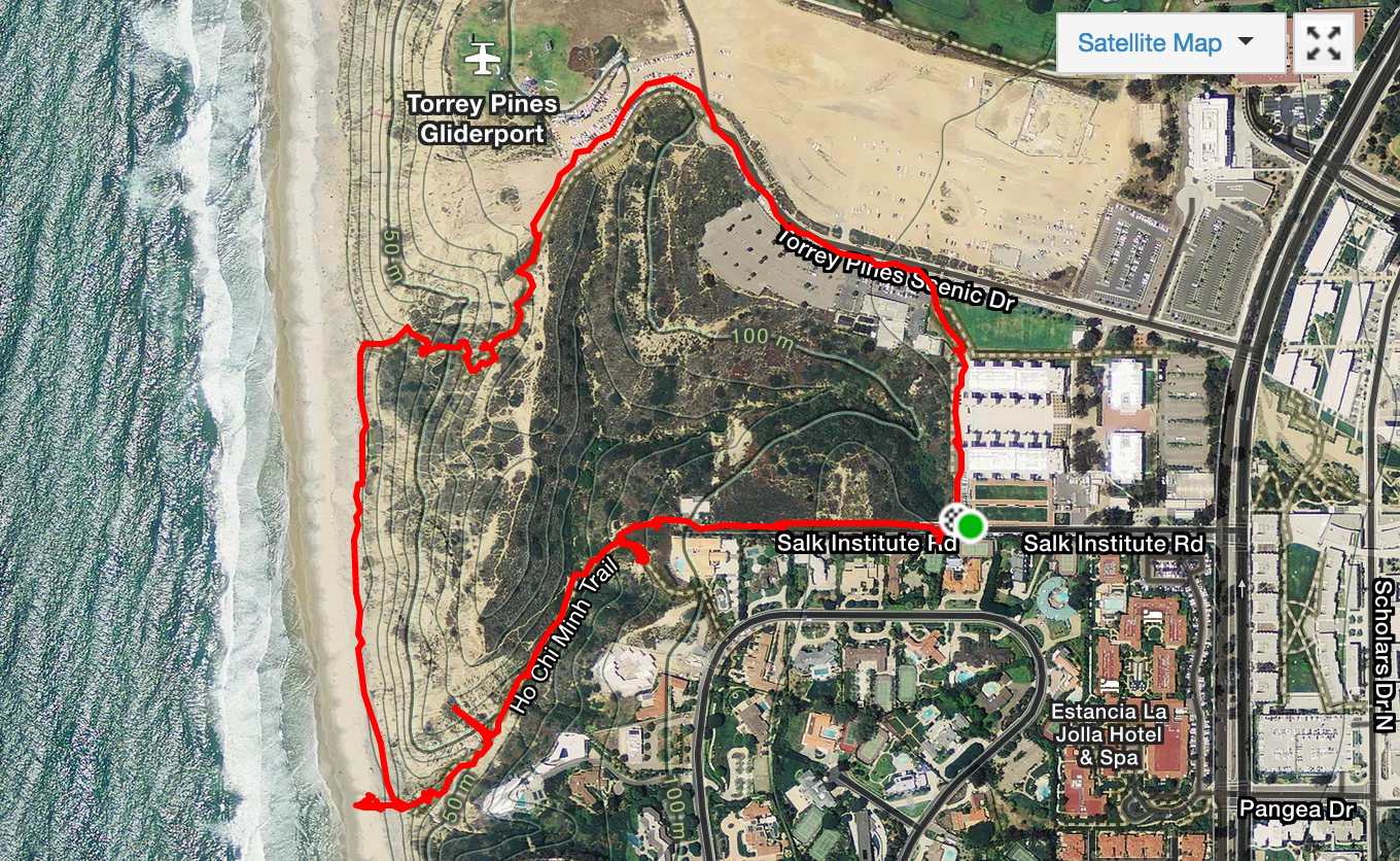 An approximately correct map of our hike, created by  Strava .