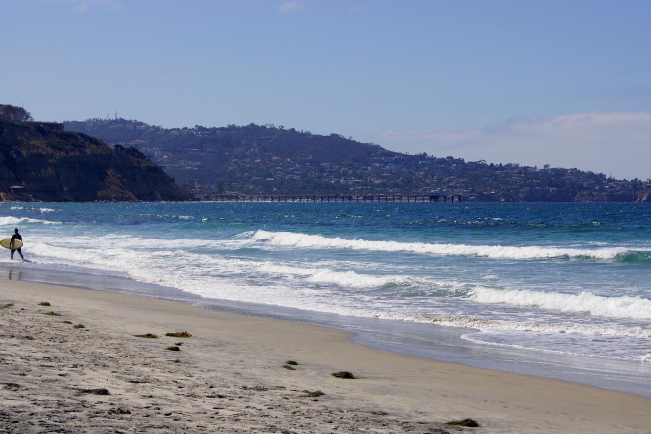Scripps pier in the distance.