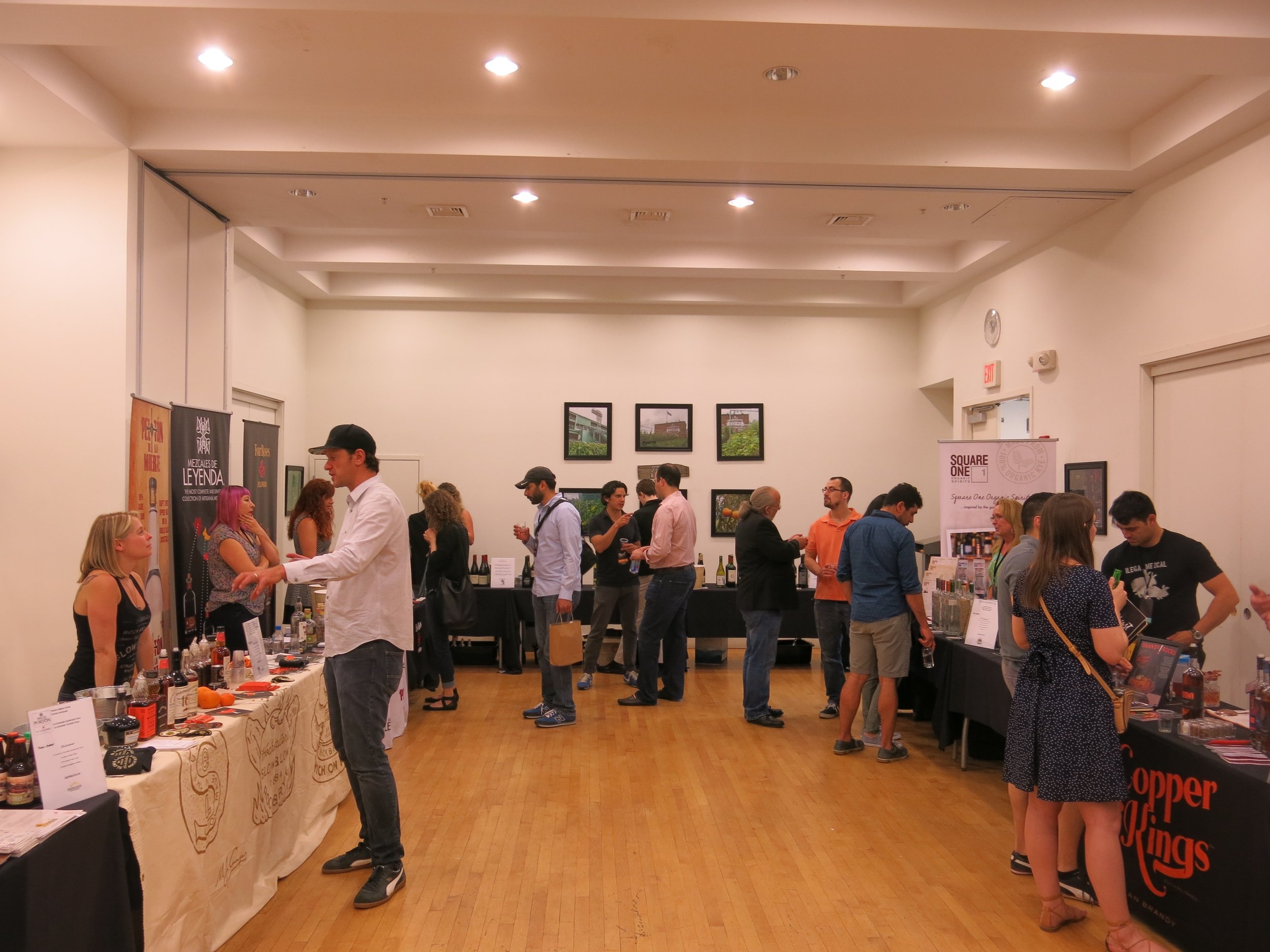 The Inspired Beverage Tasting pop-up gave attendees a chance to try a bevy of spirits and talk with brand representatives from all over the country. I sampled more mezcal than I care to admit.