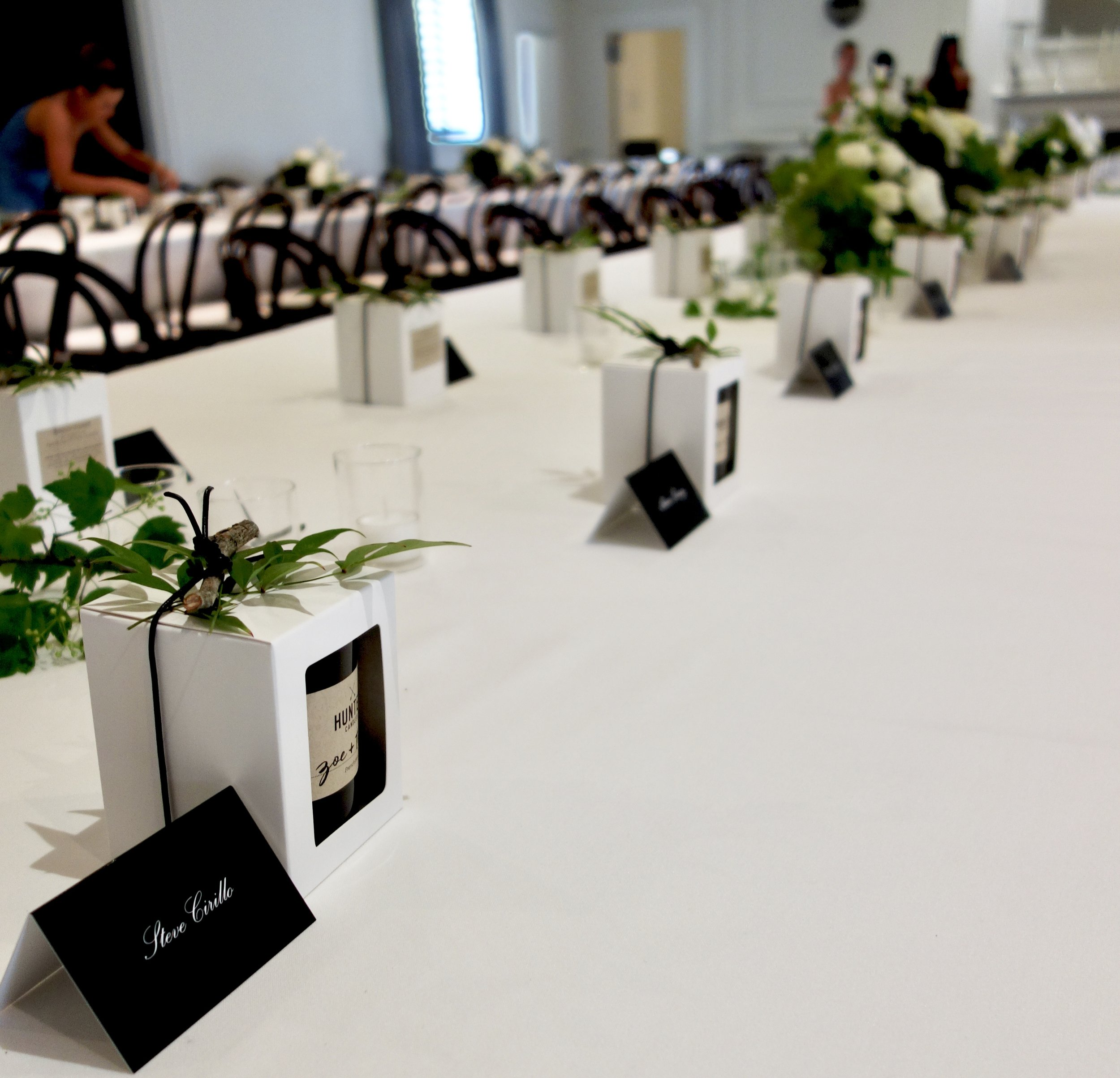 Table settings with Hunter Candles