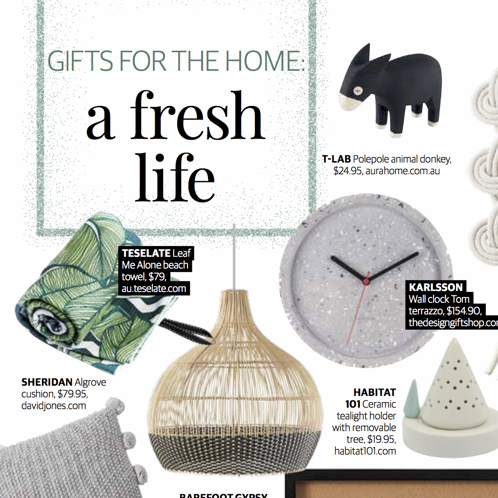 HERALD SUN - 'GIFTS FOR THE HOME: A FRESH LIFE'December 2018