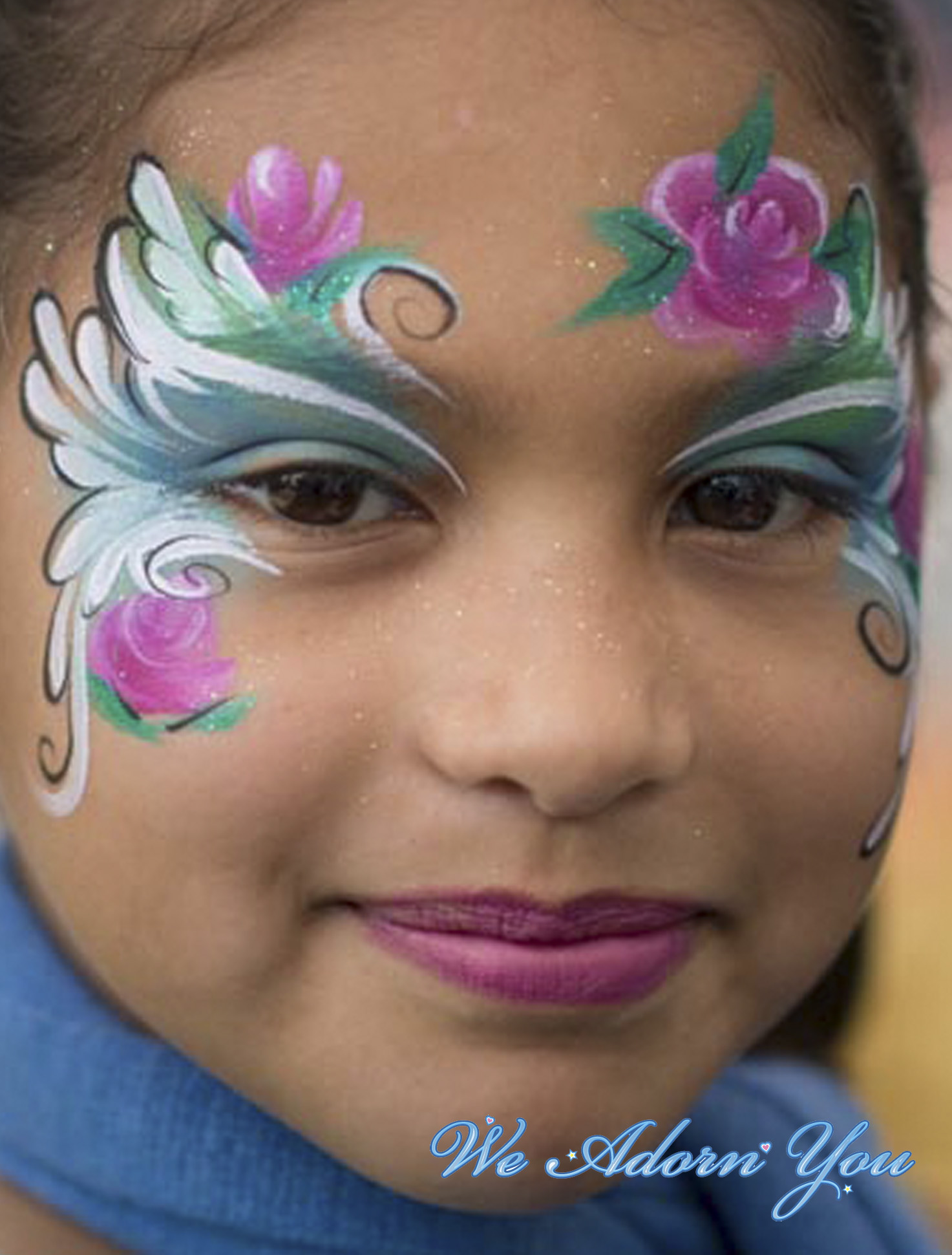 Face Painting Roses- We Adorn You.jpg