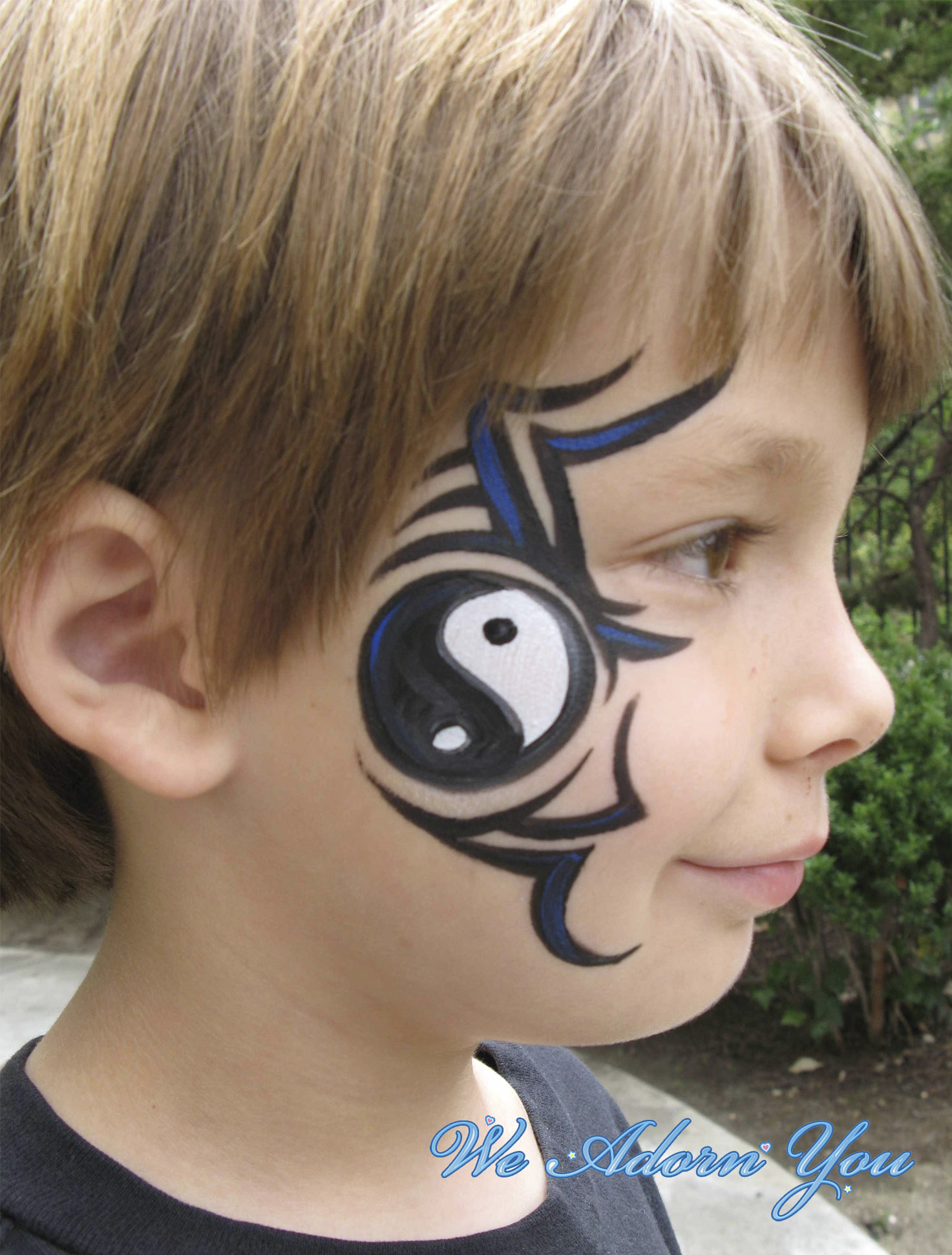 Face Painting Tribal Ying Yangl- We Adorn You.jpg
