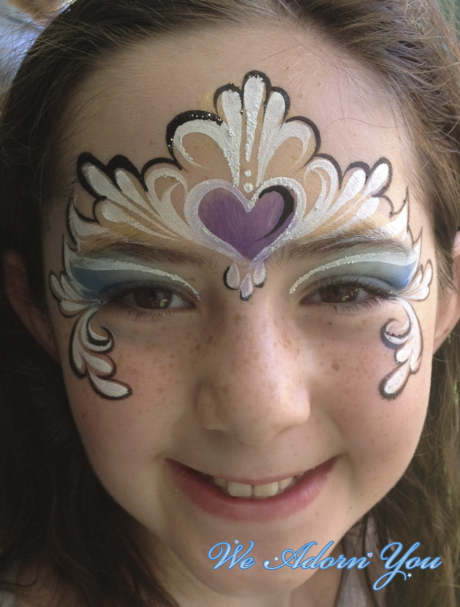 Face Painting Heart Princess - We Adorn You.jpg