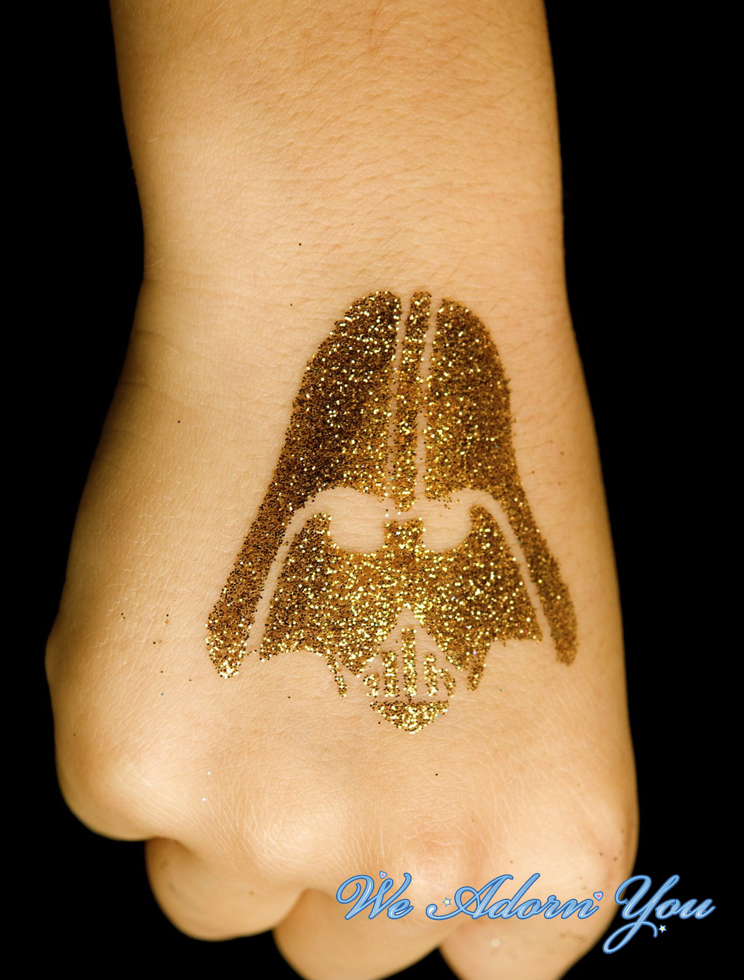 Glitter Tattoo Darth Vader- We Adorn You.jpg