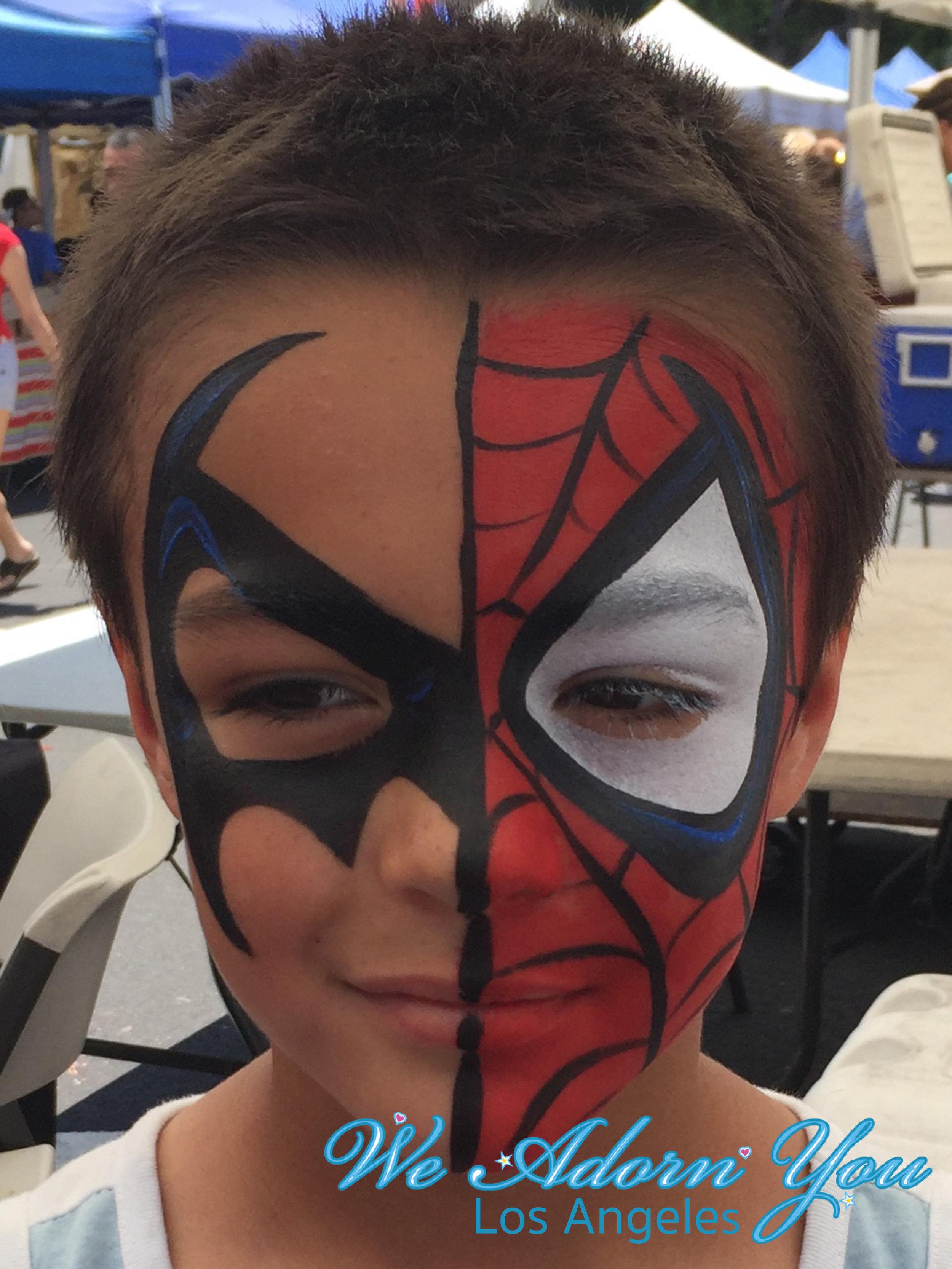 We Adorn You Los Angeles Face Painting Batman Spiderman.jpg