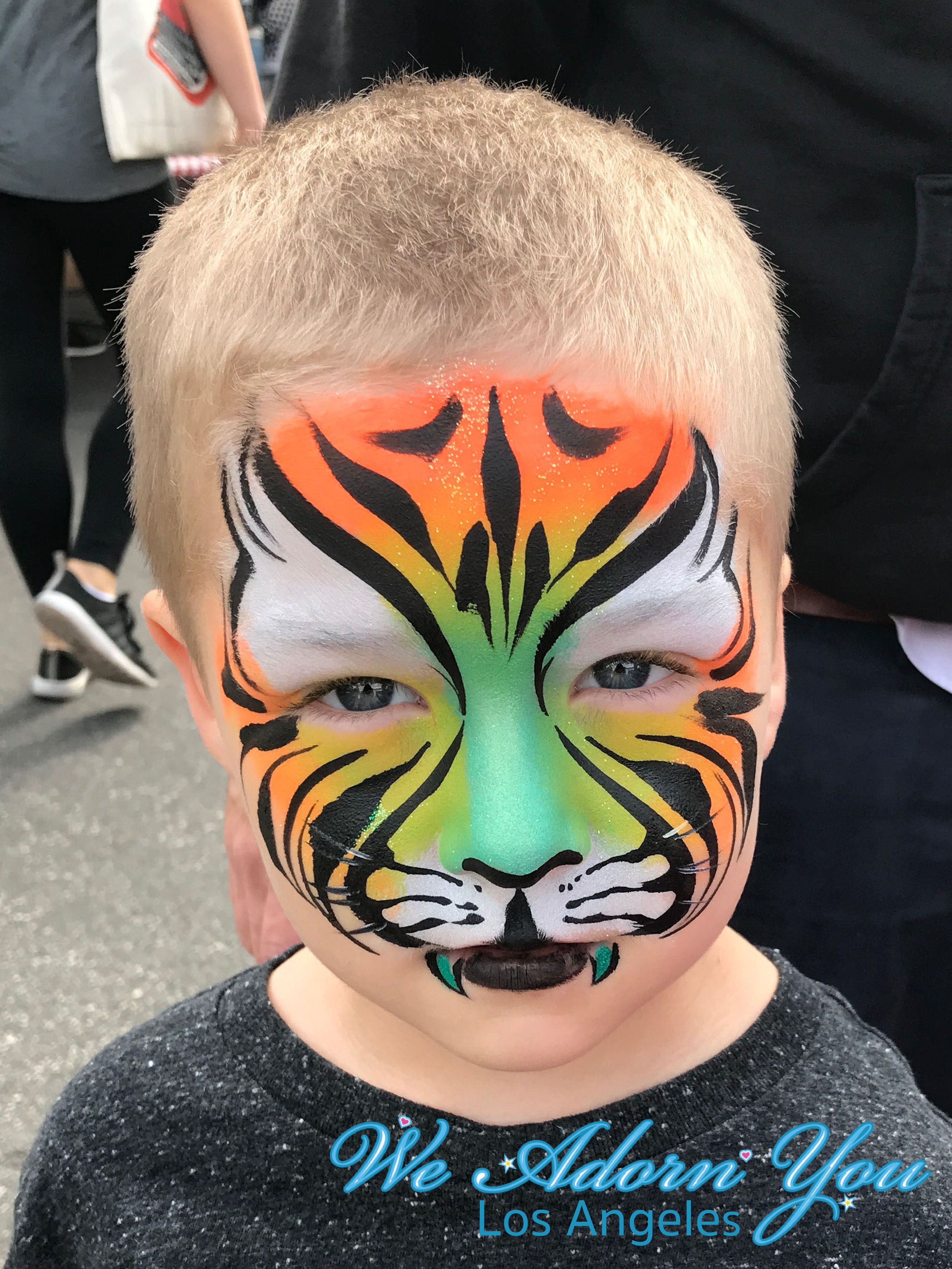 We Adorn You Los Angeles Face Painting Green Tiger.jpg