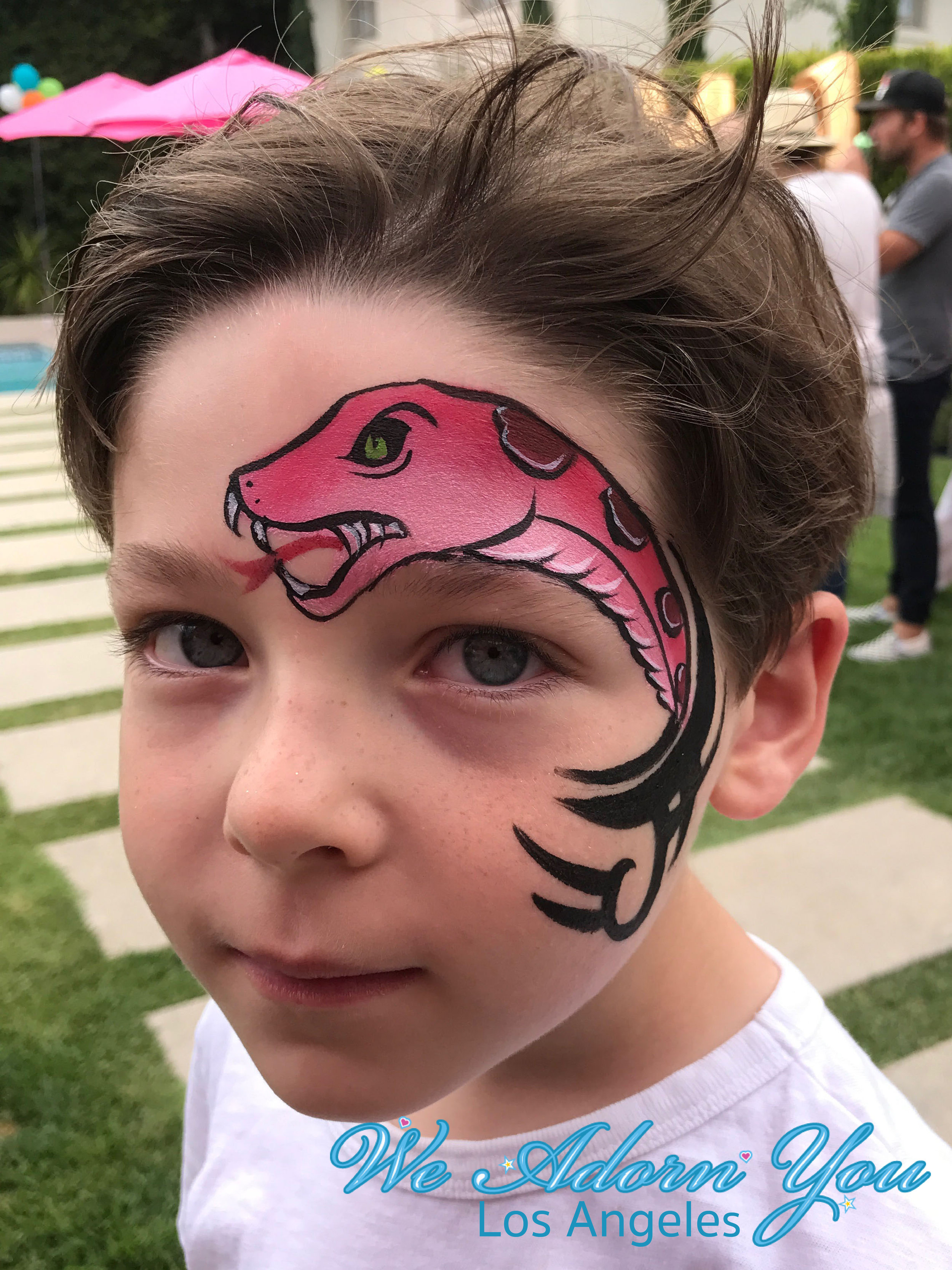 We Adorn You Los Angeles Face Painting Pink Snake.jpg