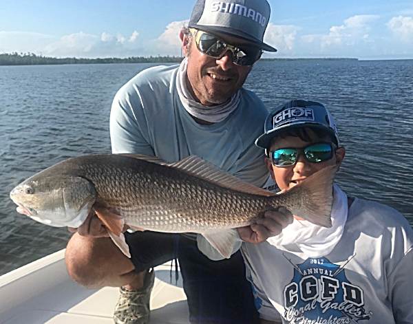 Paul and P.J. caught Snook, Trout, Redfish and Sharks