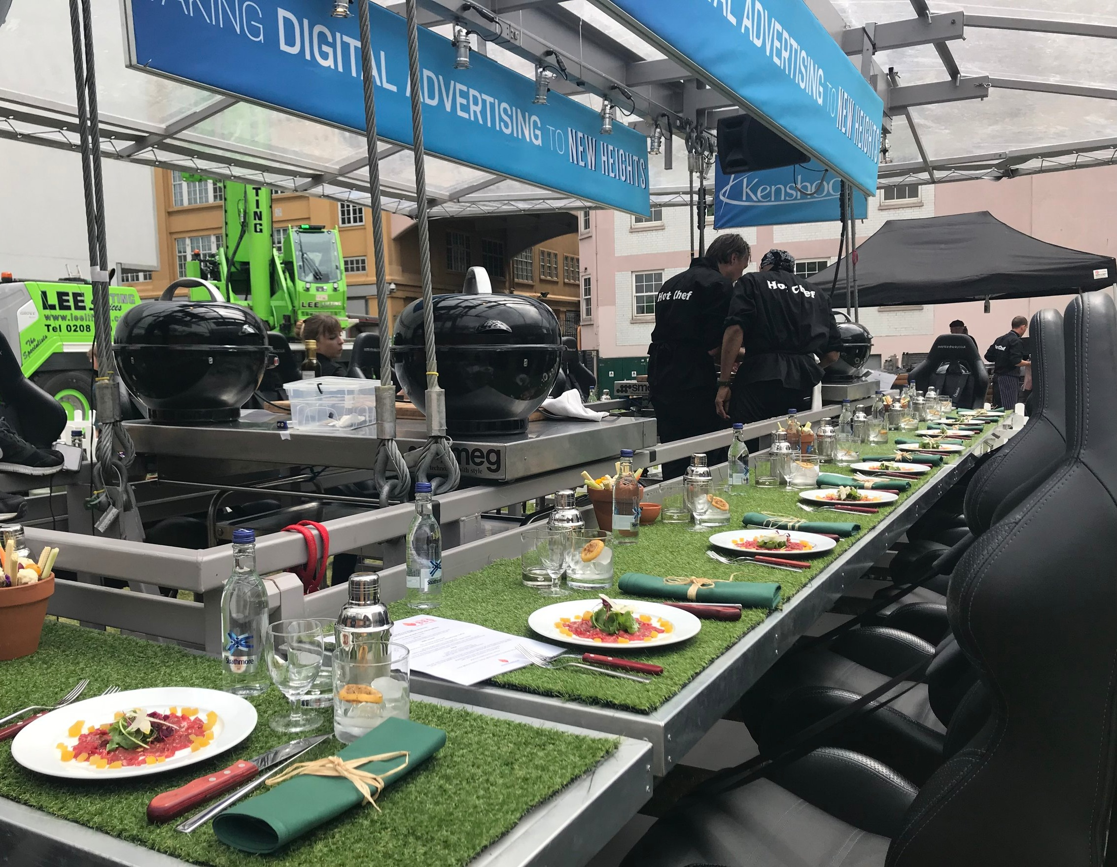 Worlds first Sky High BBQ created by Fabulous BBQ for Kenshoo