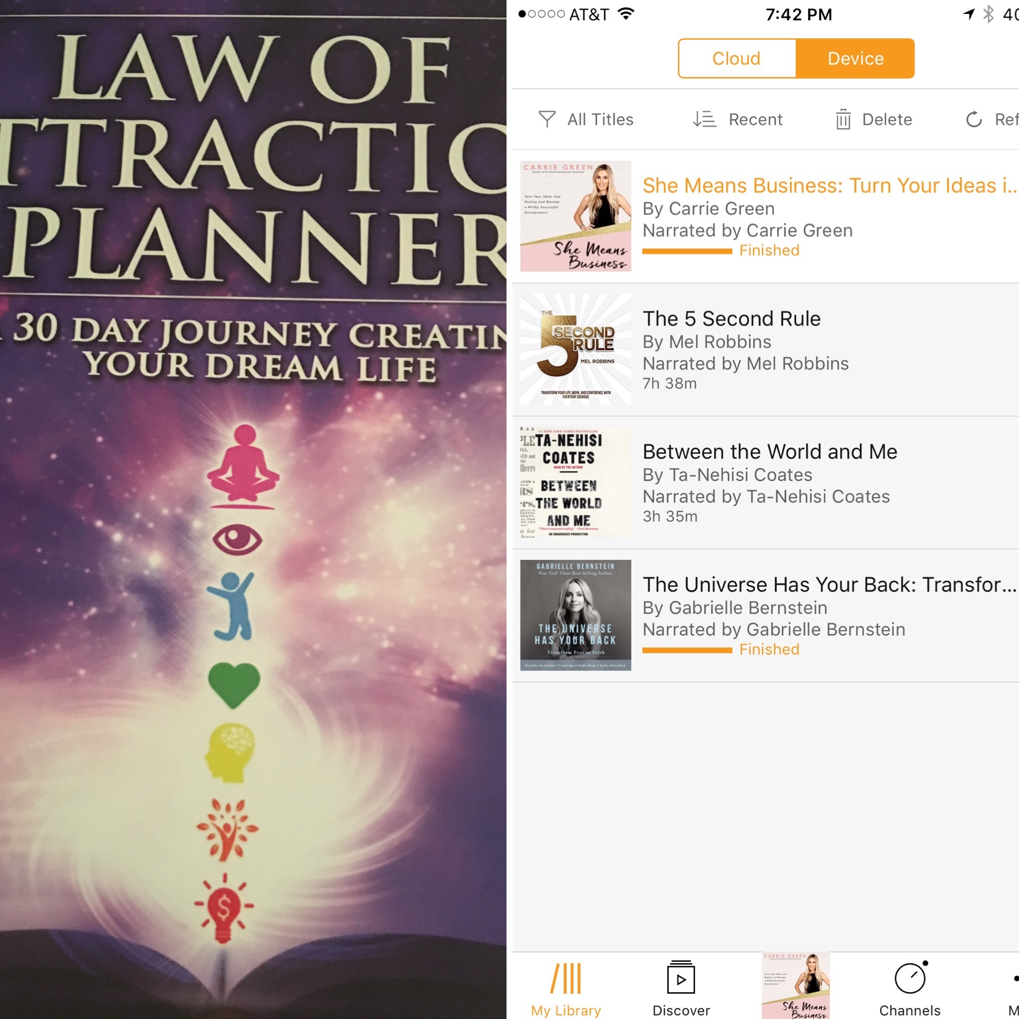 Two things I can't live without! My LOA Planner and my Audible account loaded with personal development books!