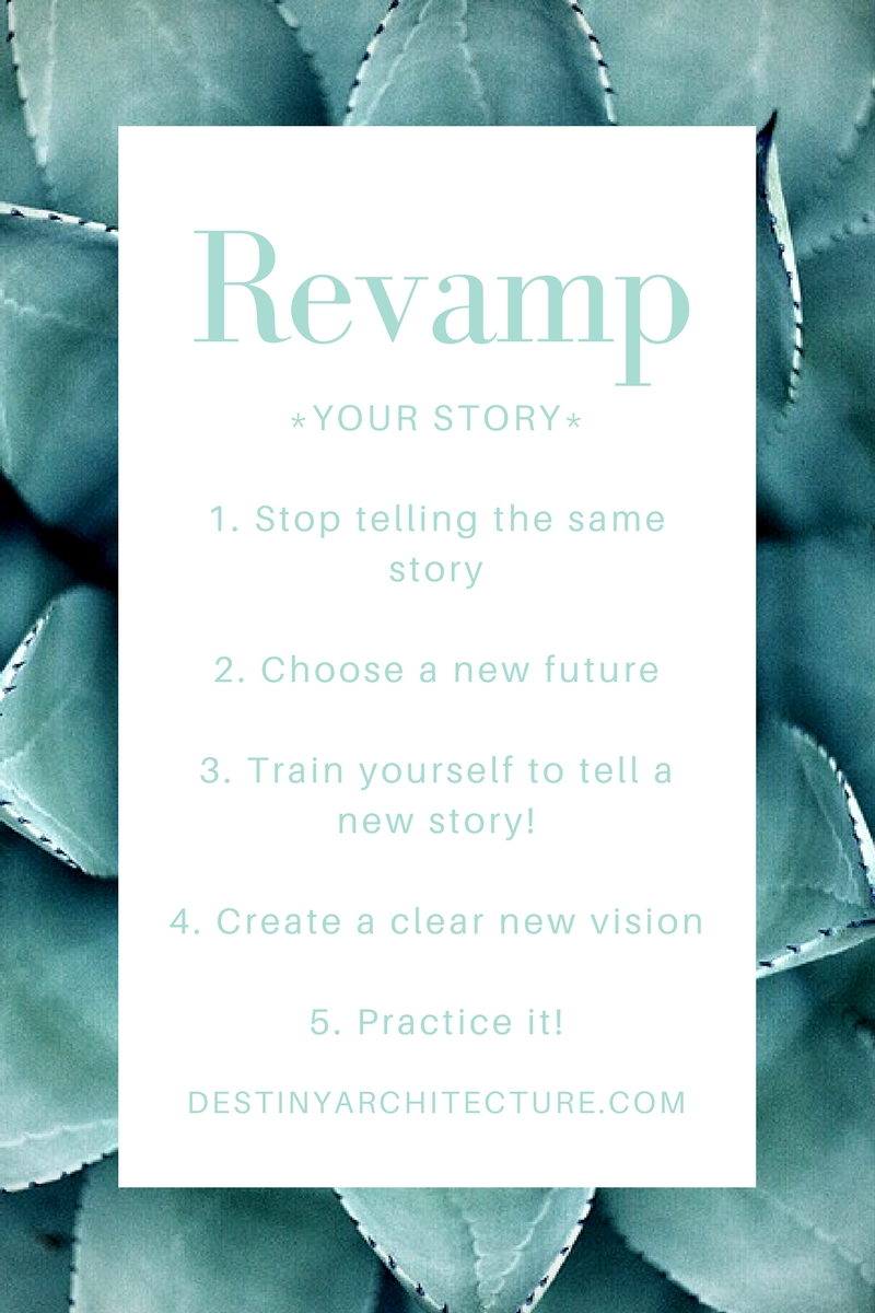 *YOUR STORY*1. Stop telling the same story2. Choose a new future 3. Train yourself to tell a new story!4. Create a clear new vision5. Practice it!.jpg