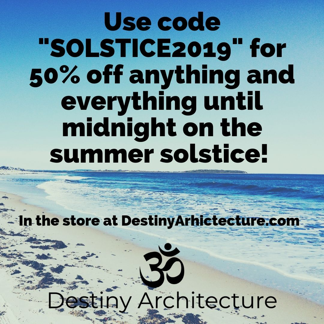 SALE! - This code is live all week long until Midnight Friday, June 21! 50% off EVERYTHING in the story and NO LIMITS! I want you to get coaching and Reiki!