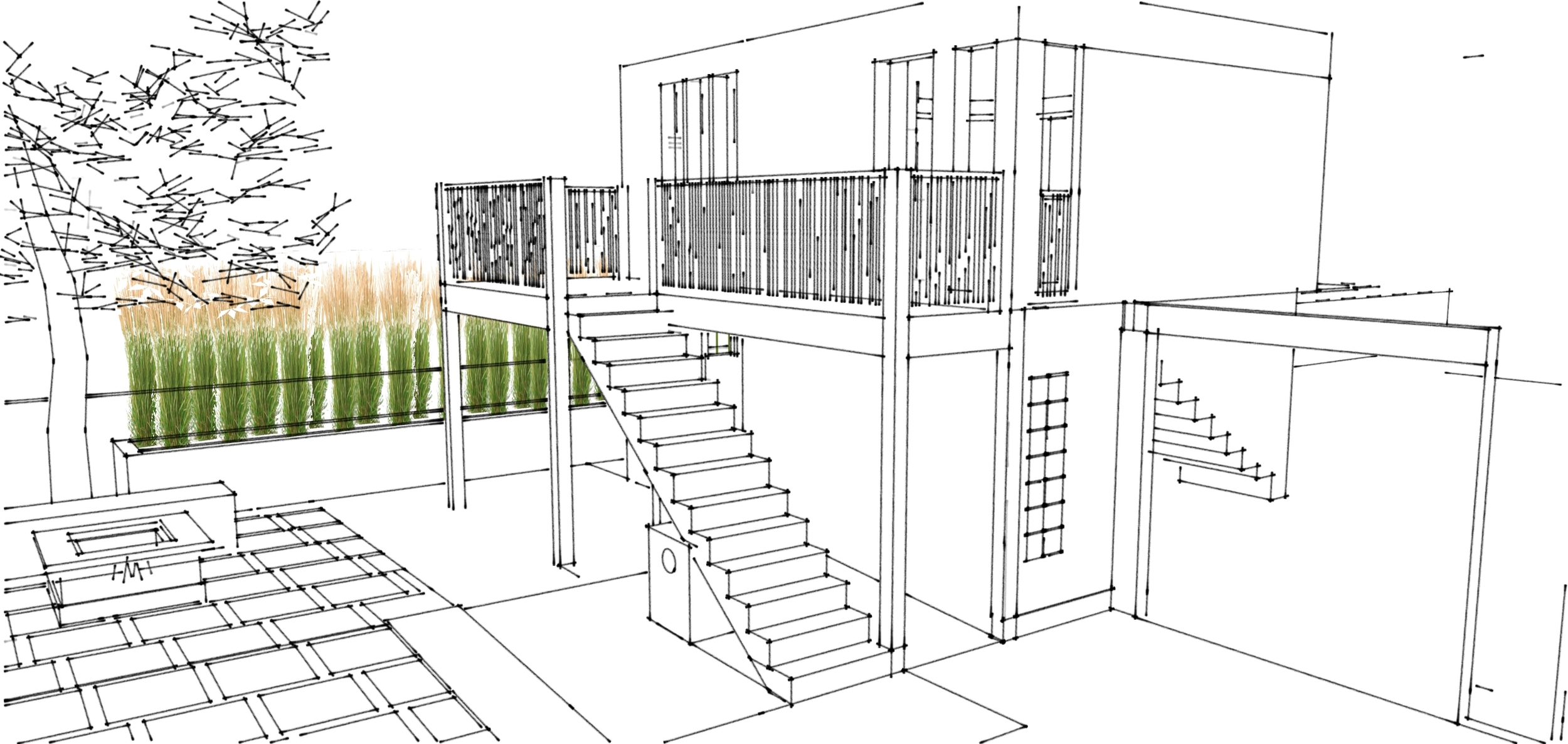 Irving Steet,San Mateo sketch up model: Design Development