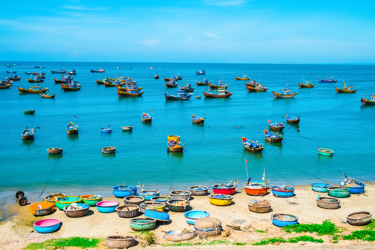 Fishing village in Mui Ne, Phan Thiet...