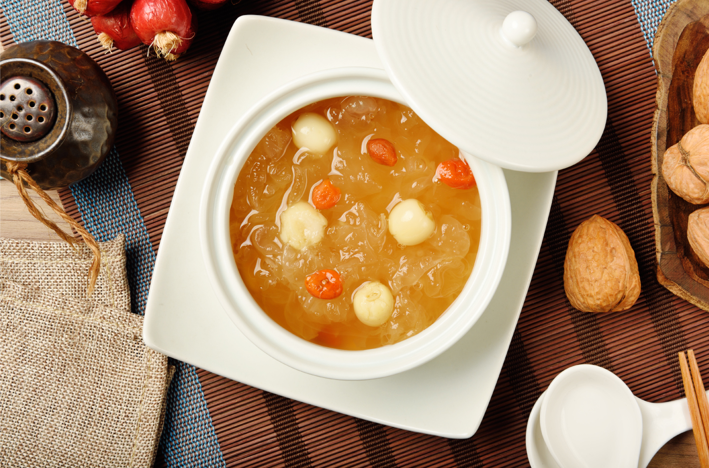 Lychee and Lotus Seed Sweet Soup...