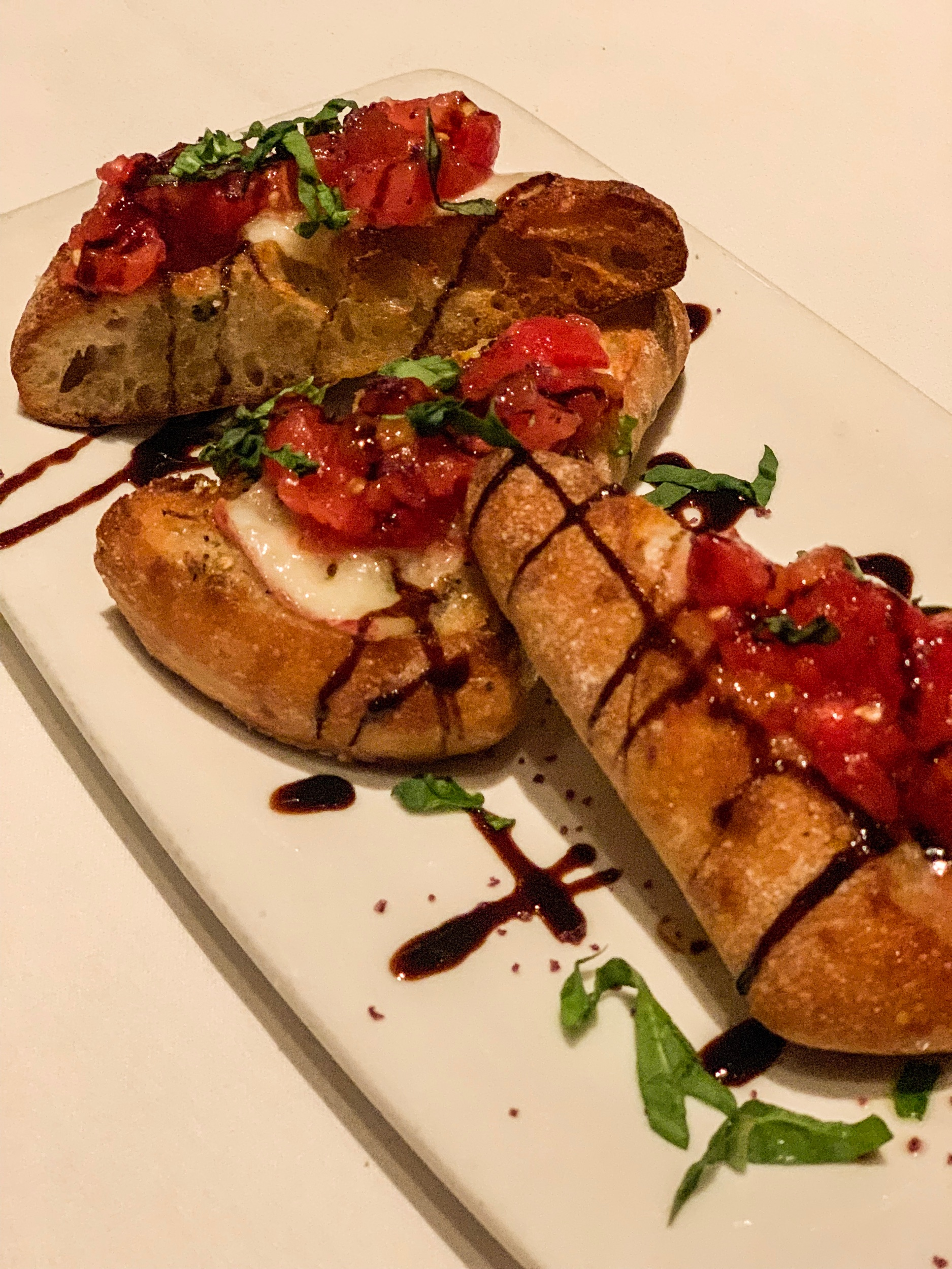 Not to be weird but this may have been my favorite thing of the night.   GRILLED HEIRLOOM BRUSCHETTA :  manchego, grilled sourdough, basil, & balsamic glaze. I have never liked bruschetta until the moment I tried this. I inhaled this.
