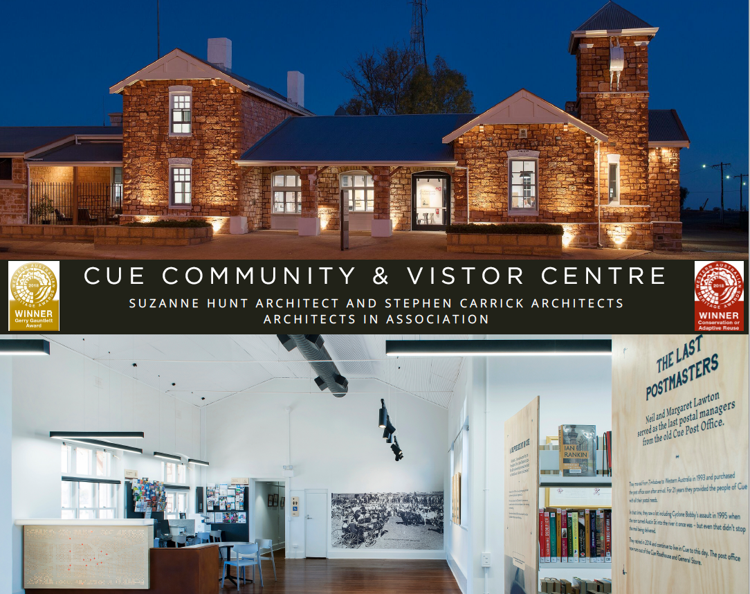 Cue Visitor and Community Centre, Suzanne Hunt Architect