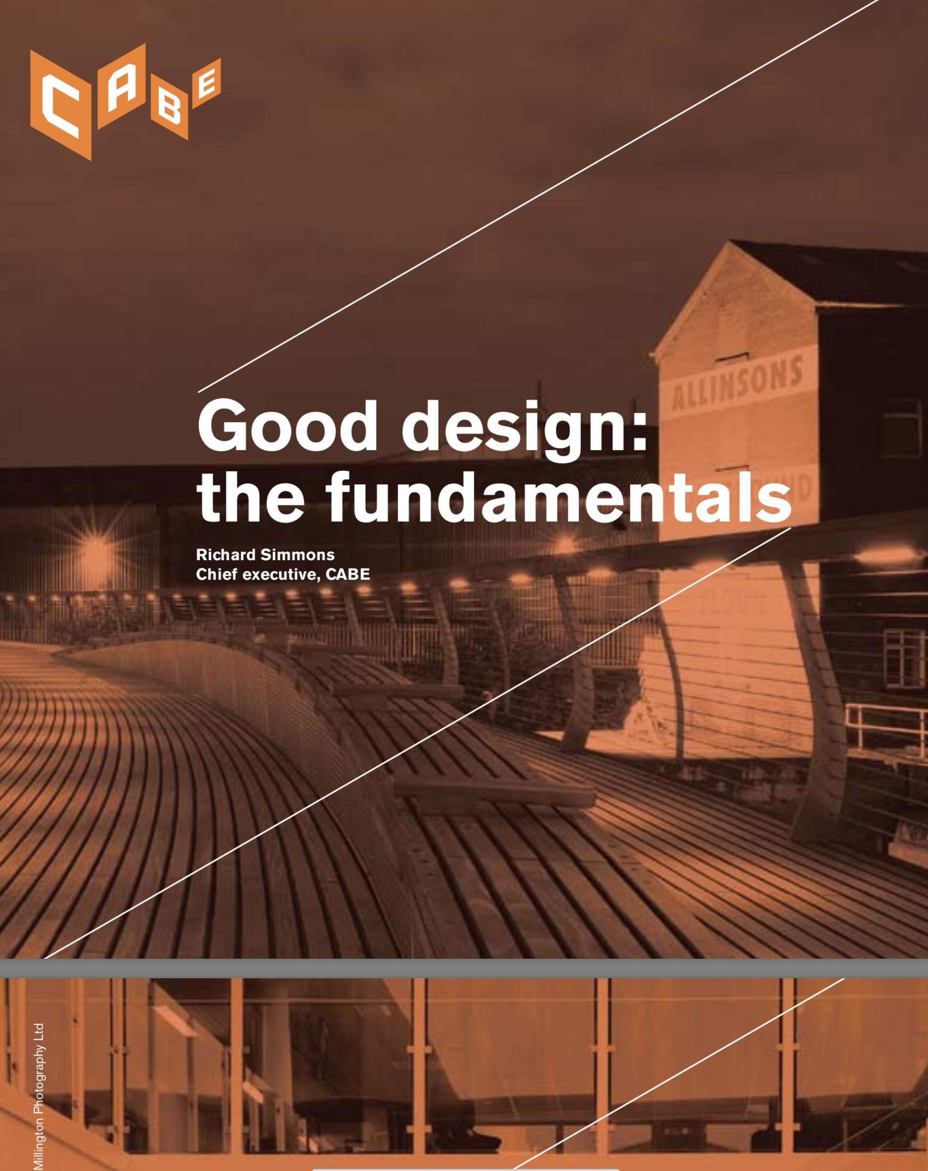 Good design: the fundamentals