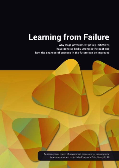 Learning from Failure: the Shergold Report, 2016