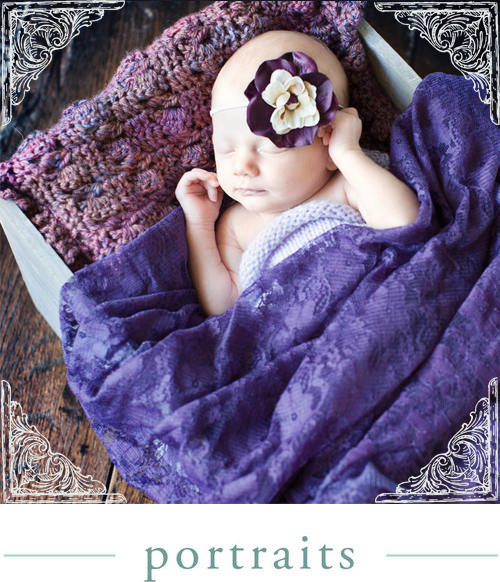 Newborn Baby Portraits by Sapphire Green -  A custom portrait art photography studio located in Palmyra, Wisconsin