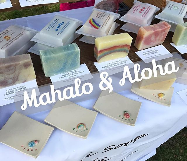 Aloha🌈 I want to start my day expressing my gratitude to everyone who supported me at Lei Day fair yesterday😍. The weather was beautiful and because of your presence, we all had wonderful day there. MAHALO❤️ *** Online special is happening now.  Save 15% on entire stock. Enter code: LOVEMOM2019. End on May 12, 2019👌 *** アロハ🌈 昨日のレイデイ イベントにいらしていただいた方、ありがとうございました😊 お天気にも恵まれ良い一日を過ごすことができました。 マハロ❤️ *** オンライン スペシャルを実施中。 全ての製品が15% オフ。 コードはLOVEMOM2019です。 2019年5月2日まで。 *** #soap #soapmaking #handmadesoap #naturalsoap #naturalskincare #madewithaloha #pualanisoap #hawaiian #aloha #madeinhawaii #waikiki #mahalo #aromatherapy #メイドインハワイ #ハワイ #プアラニソープ #ワイキキ #石鹸 #てづくり #アロマセラピー