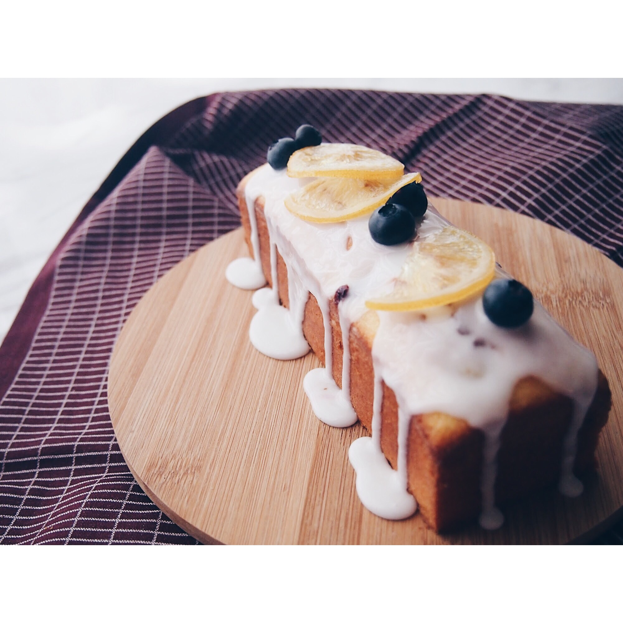 Blueberry + Lemon Loaf Cake