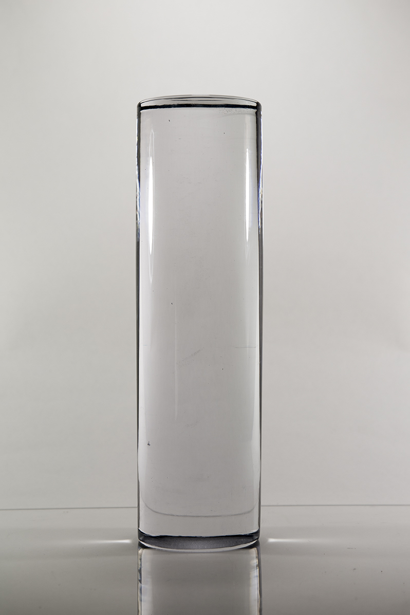 Solid Cylinder (2015) - 35 x 4 x 4 cm, 12lbsHot sculpted glass with cold ground bottom