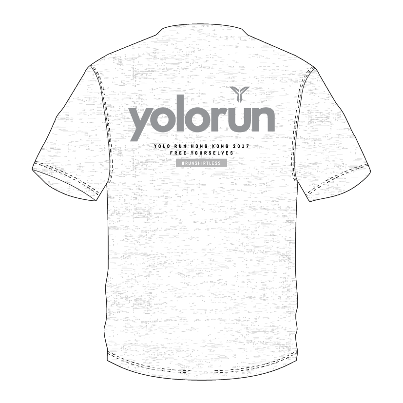 白色T恤 (背面)