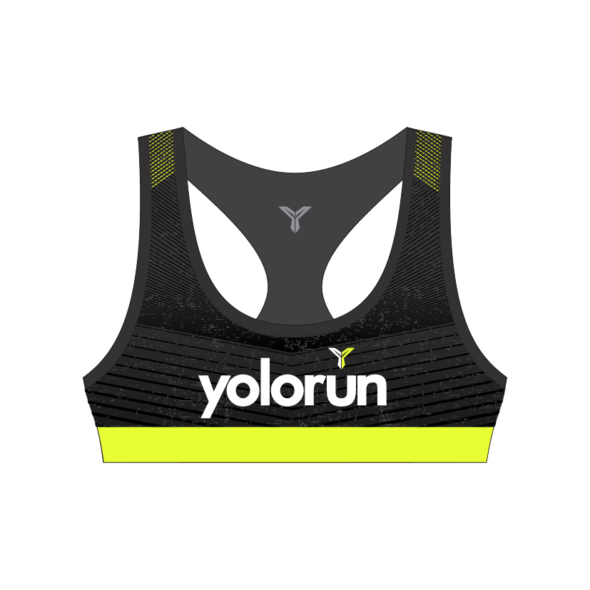 YOLO Run Sports Bra (Front)